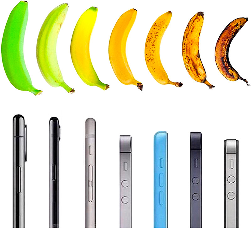 Phones are like bananas