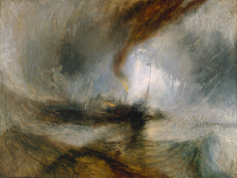 Joseph Mallord William Turner Snow Storm - Steam-Boat off a Harbour's Mouth exhibited